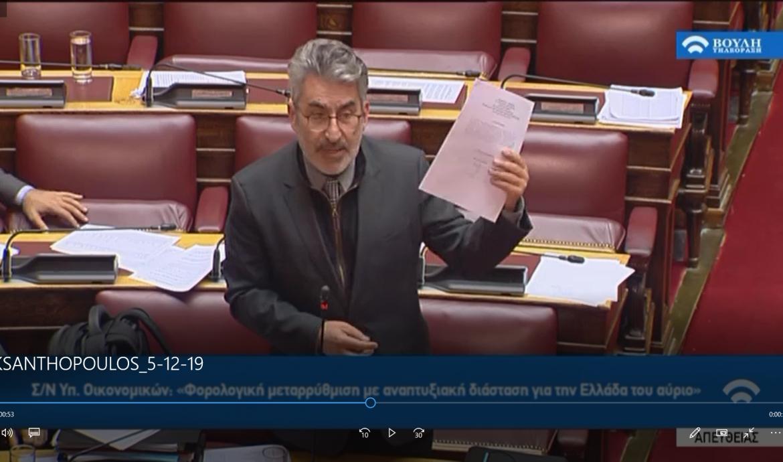Δήλωση στη Βουλή, εκτελώντας χρέη κοινοβουλευτικού εκπροσώπου για το κοινωνικό μέρισμα-ντροπή που διανέμει η κυβέρνηση Μητσοτάκη