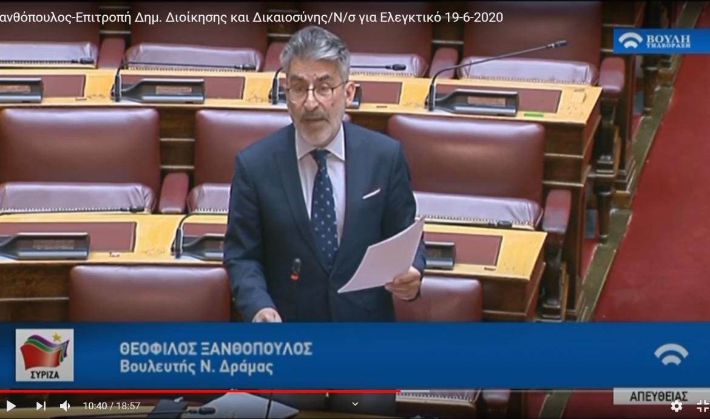 Θ. Ξανθόπουλος: Χωρίς σοβαρούς ελέγχους στο τραπεζικό σύστημα δεν μπορεί να ελεγχθεί το «ξέπλυμα βρώμικου χρήματος».