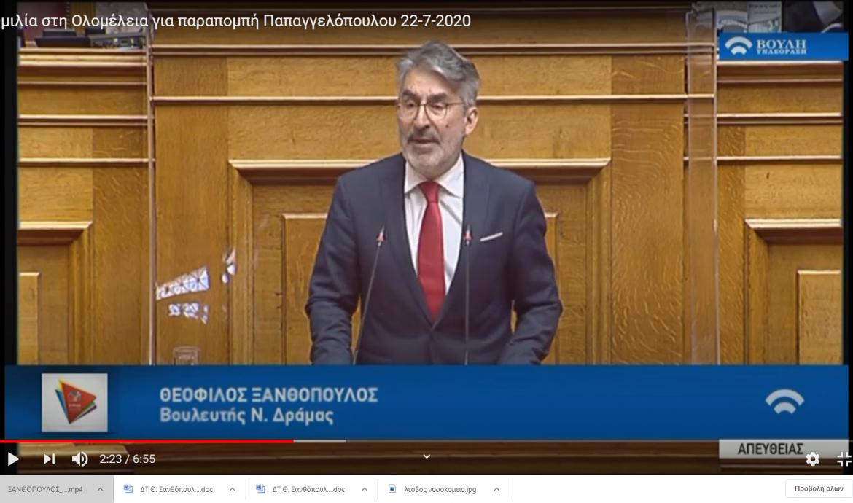 Θ. Ξανθόπουλος: Ο συμβιβασμός Novartis-HΠΑ επιβεβαιώνει το σκάνδαλο και την εμπλοκή πολιτικών-Στίγμα για τη χώρα η δίωξη της εισαγγελέως διαφθοράς