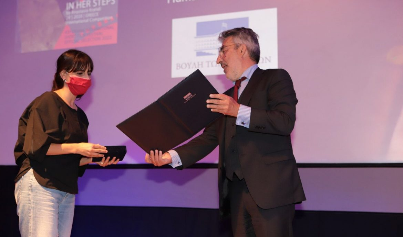 Απονομή βραβείου της Βουλής των Ελλήνων στο Φεστιβάλ Ταινιών Μικρού Μήκους της Δράμας