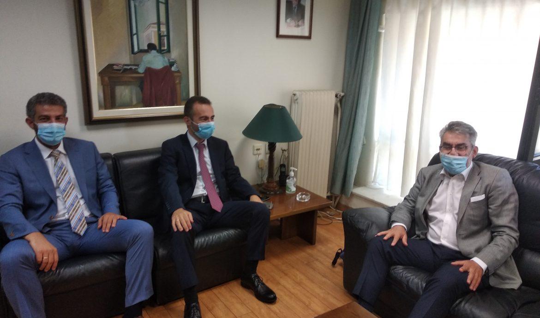 Επίσκεψη του τομεάρχη Δικαιοσύνης του ΣΥΡΙΖΑ-Προοδευτική Συμμαχία Θεόφιλου Ξανθόπουλου στα γραφεία της Ενωσης Δικαστών και Εισαγγελέων-Συνάντηση με αντιπροσωπεία του προεδρείου της Ενωσης
