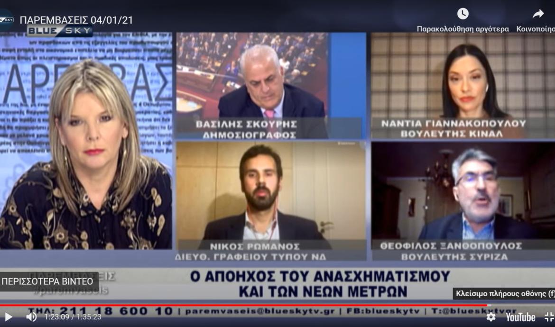 Θ. Ξανθόπουλος: «Εξωθεσμικές δραστηριότητες ας ψάξει η ΝΔ στα στελέχη της κυβέρνησης της»-Απάντηση σε απίστευτη πρόκληση Ρωμανού-Η ανάγκη προοδευτικής συνεργασίας