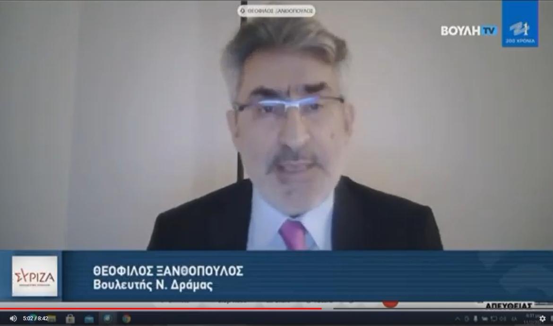 Θ. Ξανθόπουλος: Η κυβέρνηση θεωρεί τη μόρφωση προνόμιο και όχι κοινωνικό δικαίωμα-Πριμοδοτεί τα ιδιωτικά κολλέγια σε βάρος της δημόσιας παιδείας-Οδηγεί σε κλείσιμο περιφερειακά ΑΕΙ
