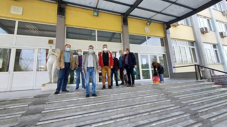 Εκστρατεία ενημέρωσης των πολιτών για τα αντεργατικά σχέδια της κυβέρνησης-Επίσκεψη σε Διοικητήριο, Δημαρχείο Δράμας