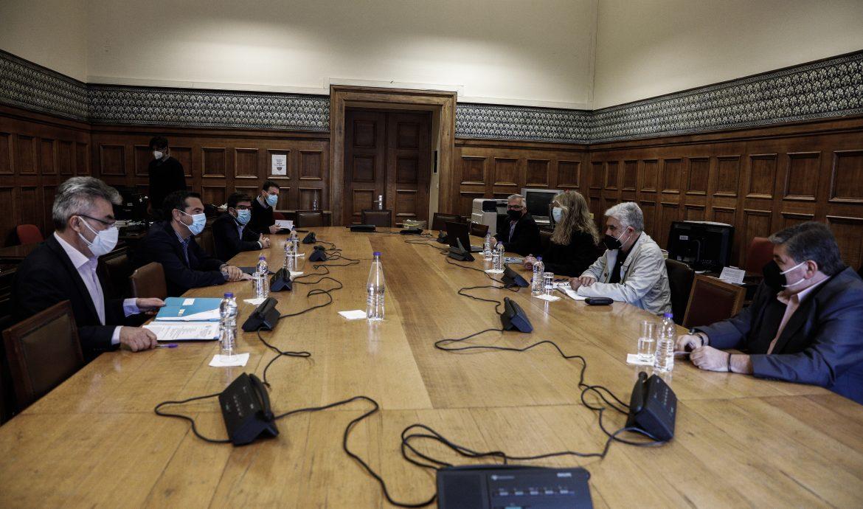 Συνάντηση του προέδρου του ΣΥΡΙΖΑ – Προοδευτική Συμμαχία, Αλέξη Τσίπρα, με αντιπροσωπεία του Προεδρείου της Ομοσπονδίας Δικαστικών Υπαλλήλων