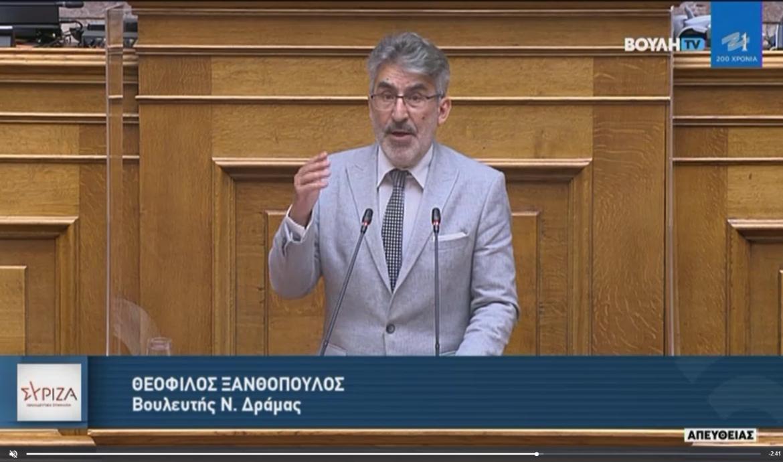 Θ. Ξανθόπουλος στην Ολομέλεια της Βουλής: Η κυβέρνηση της ΝΔ θέτει σε κίνδυνο το θετικό προφίλ της χώρας στην καταπολέμηση του ξεπλύματος βρώμικου χρήματος (βίντεο)