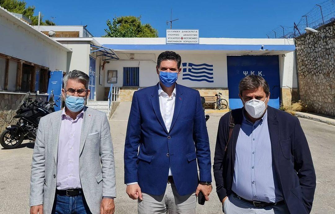 Επίσκεψη αντιπροσωπείας του ΣΥΡΙΖΑ-ΠΣ στο Νοσοκομείο Κρατουμένων Κορυδαλλού